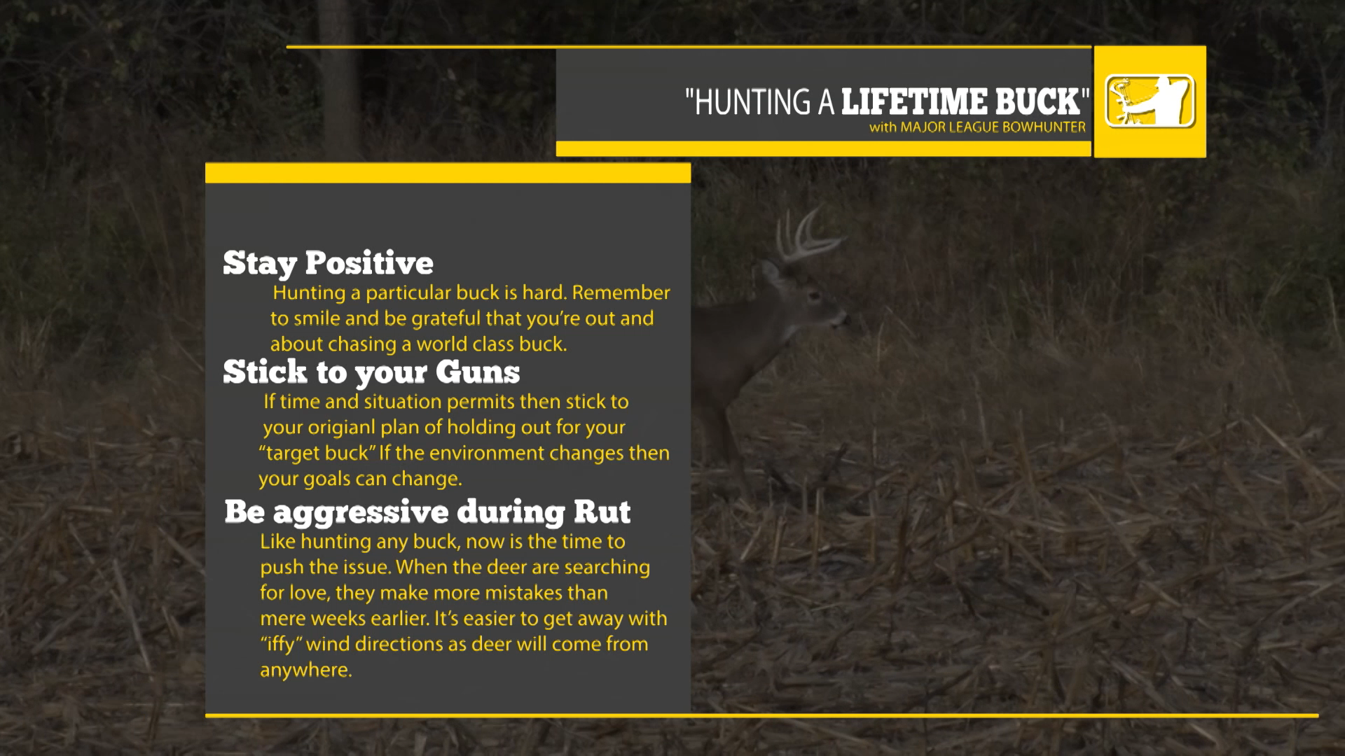 HUNTING LIFETIME BUCK