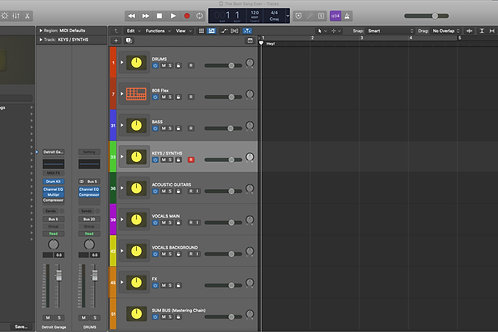 Logic Pro X Project Template