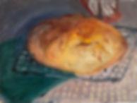 "Crusty Loaf, 6x6"", oil on aluminum"