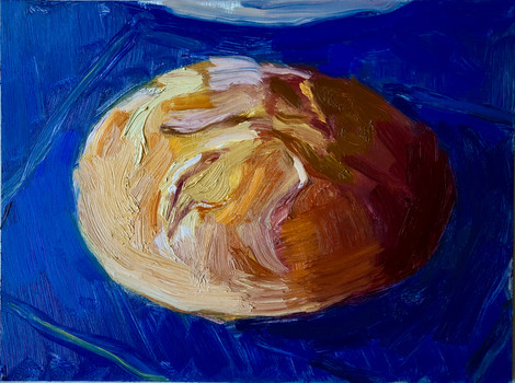 Loaf on Blue