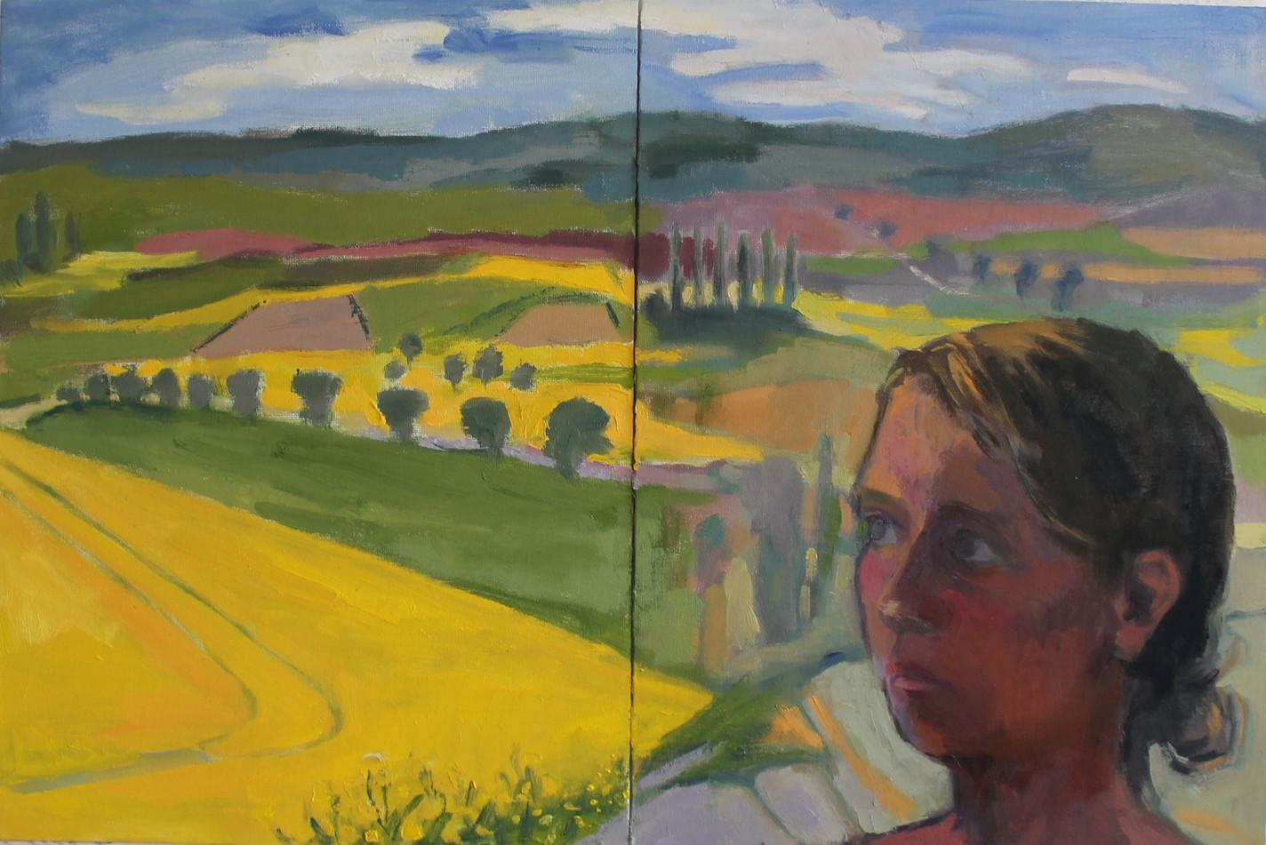 Self Portrait with German Landscape