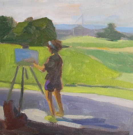 Abby Painting the Landscape
