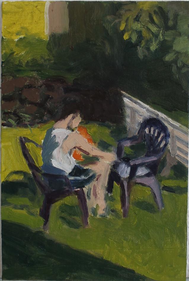 "Oil on panel, 2017, 12x8"""