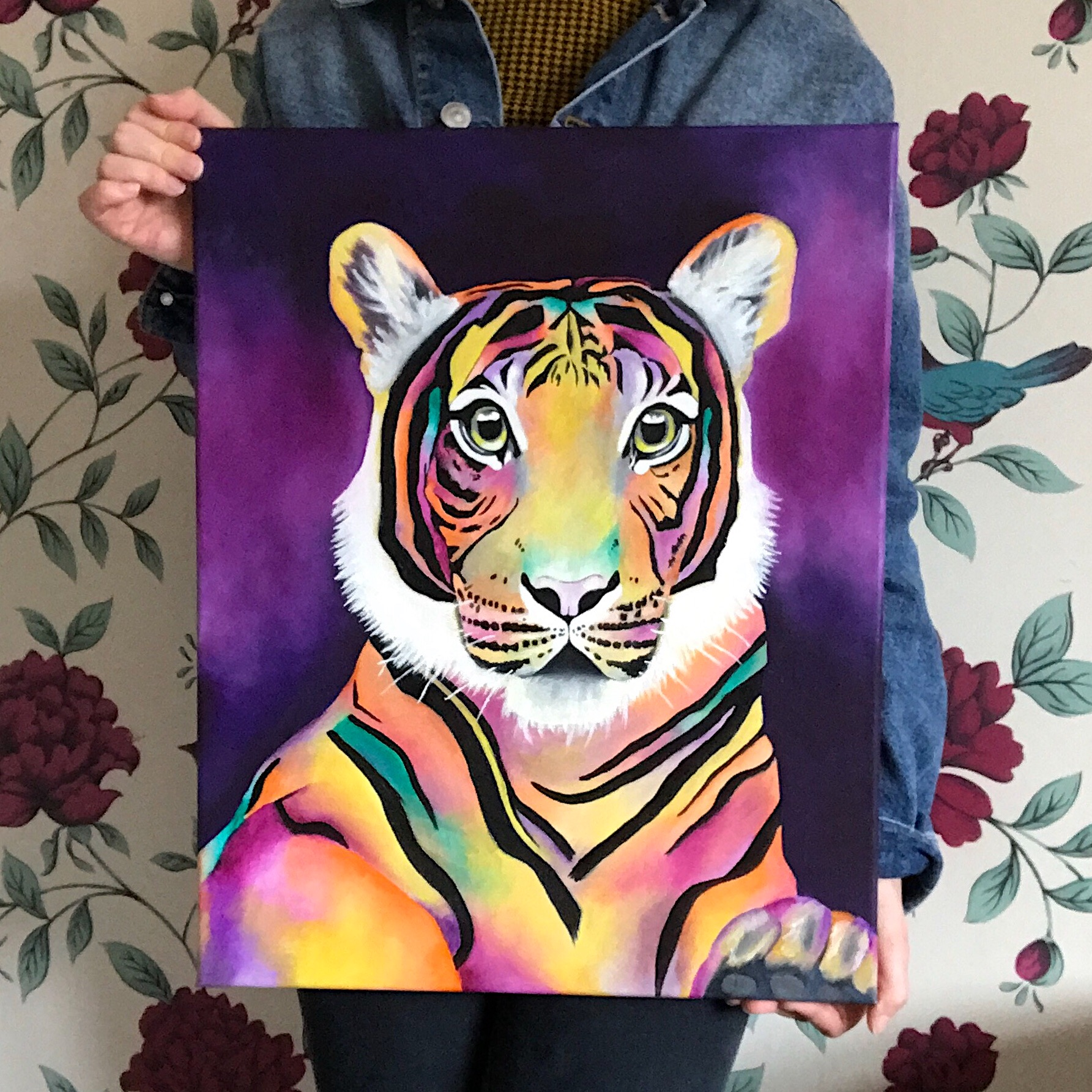 Abstract Tiger Oil painting // 16 x 20 - 2019