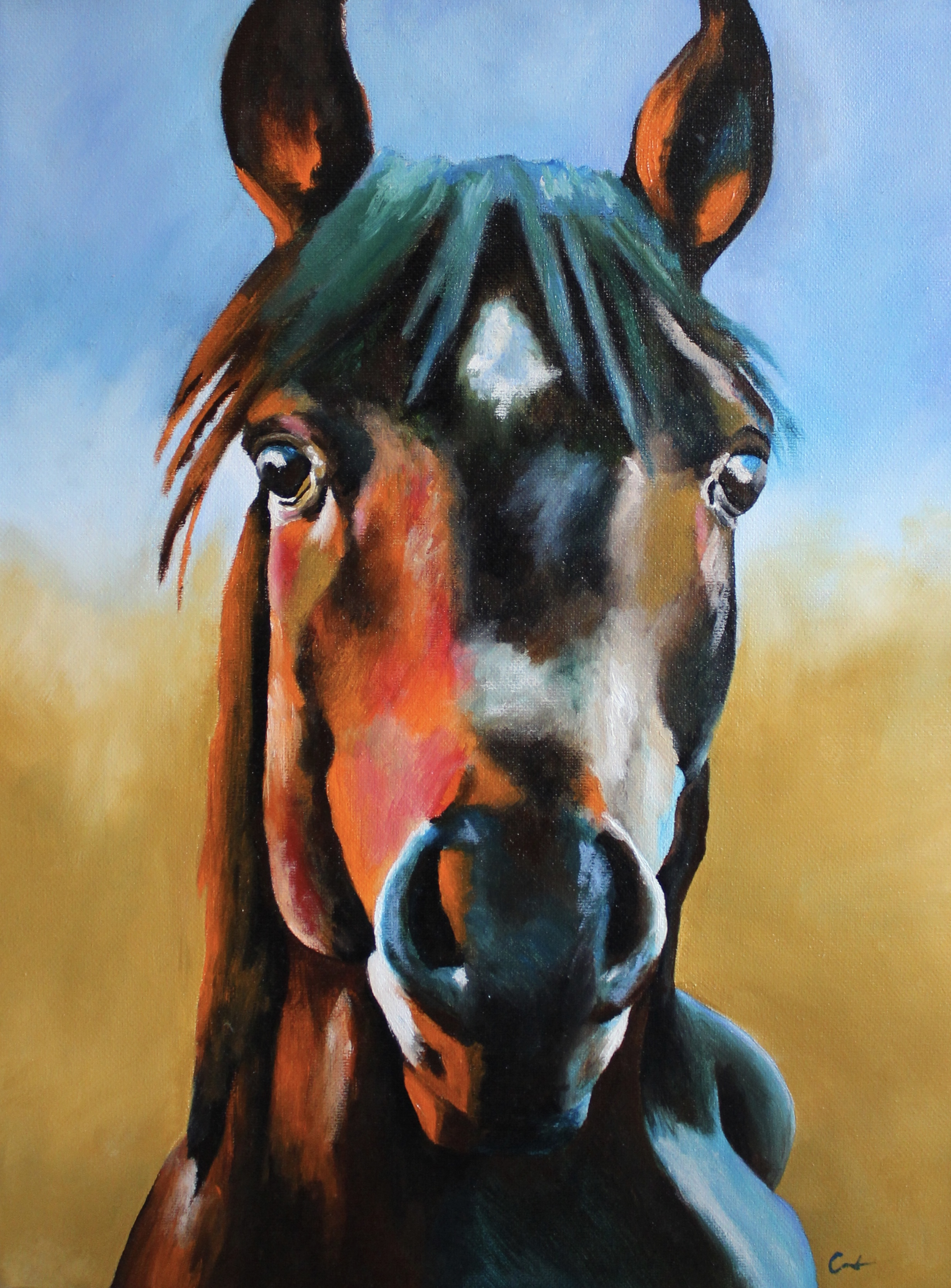 Abstract Horse Oil Painting // 12 x 16 - 2019