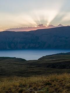 Krater gölünde günbatımı (2021)