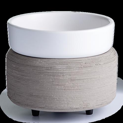 Grey Textured Wax Warmer