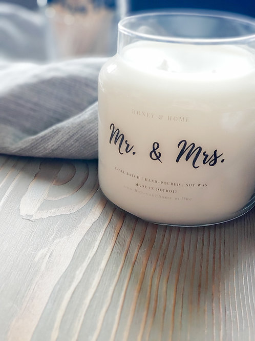 Mr. & Mrs. 20 oz Candle