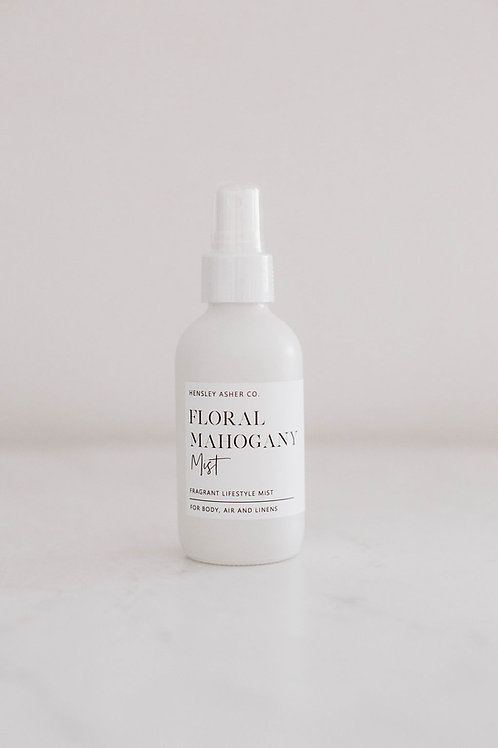 Floral Mahogany Linen + Room Spray