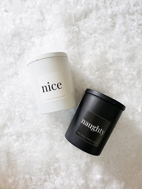 Naughty + Nice Candle Set