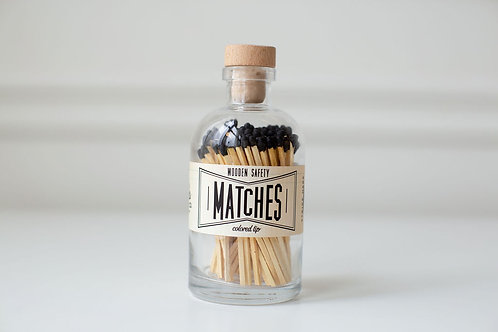 Black Large Apothecary Matches