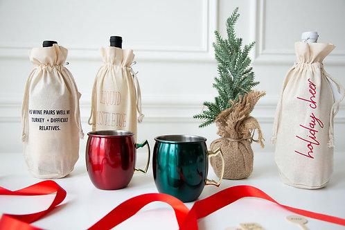 Holiday Wine Bag