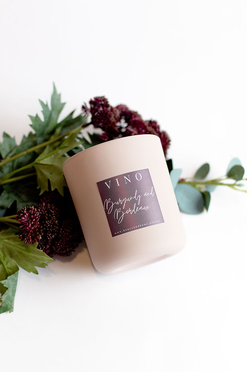 Burgundy and Bordeaux Candle