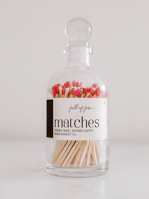 Valentine's Day Large Apothecary Matches