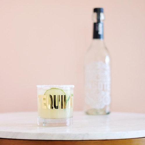 20K Gold Tequila Rocks Glass