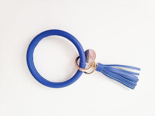 Cobalt Bangle Key Ring