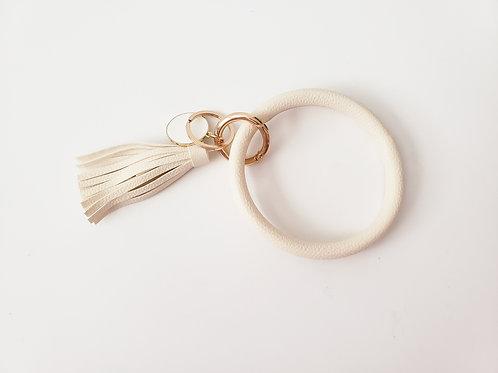 Cream Bangle Key Ring