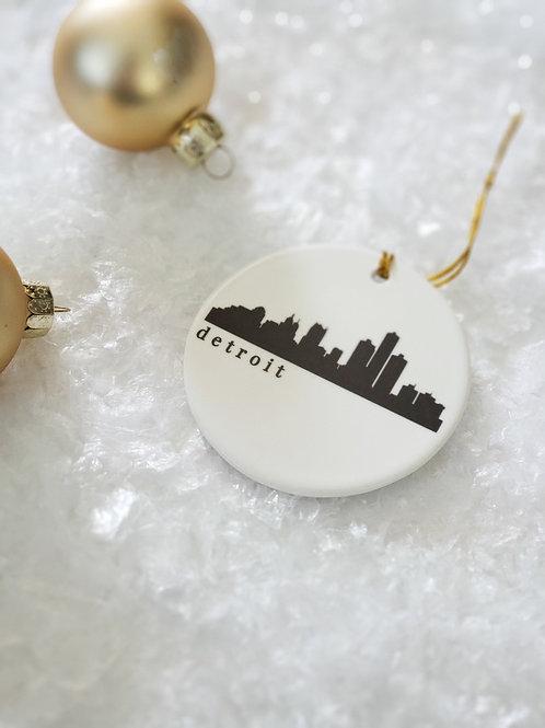 Detroit Skyline Ornament