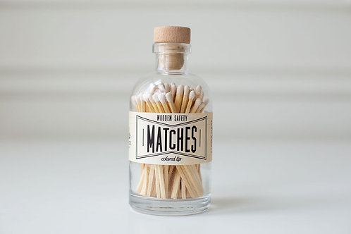 White Large Apothecary Matches