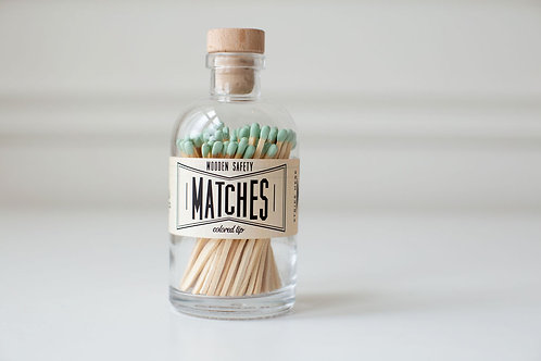 Mint Green Large Apothecary Matches