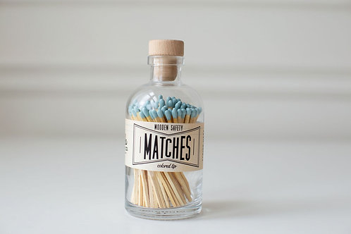 Pale Blue Large Apothecary Matches