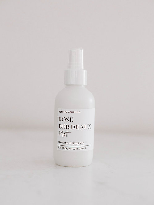 Rose Bordeaux Linen + Room Spray