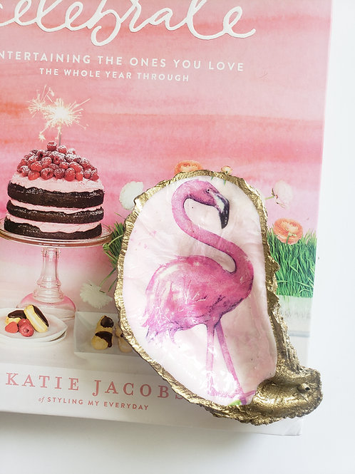 Pink Flamingo Oyster Dish