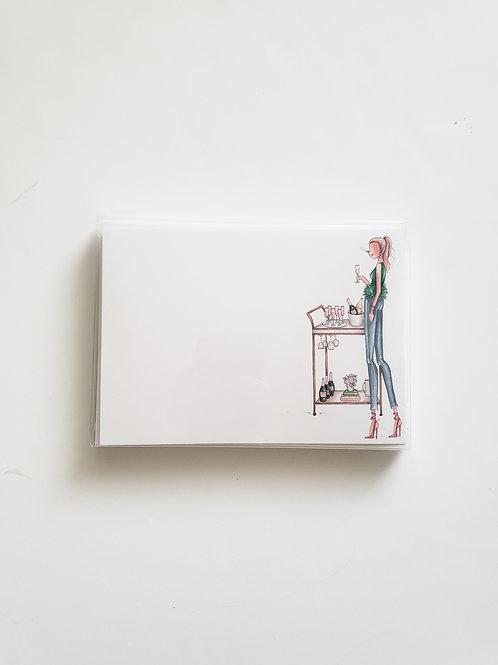 Bubbly Babe Notecards
