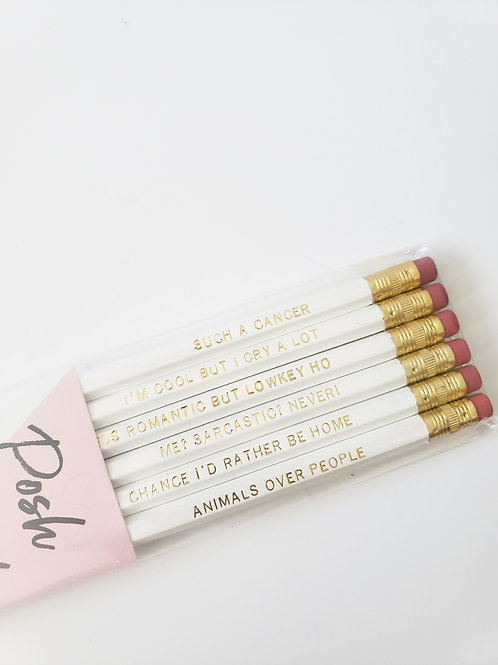 Cancer Pencil Set