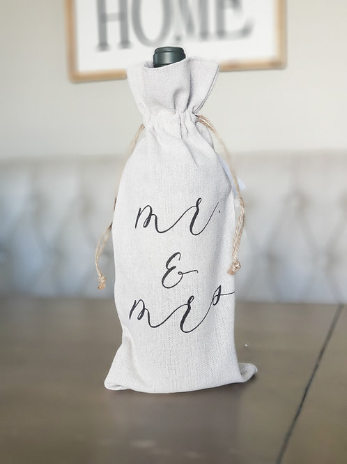 Mr. & Mrs. Wine Bag