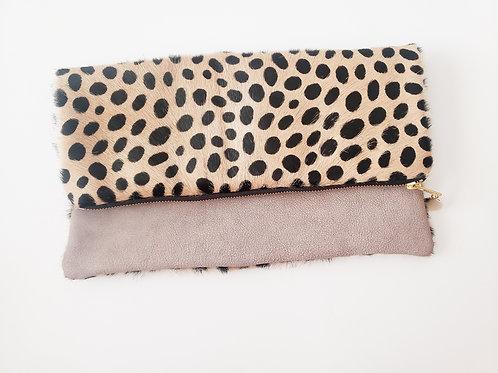 Dalmatian Foldover Clutch