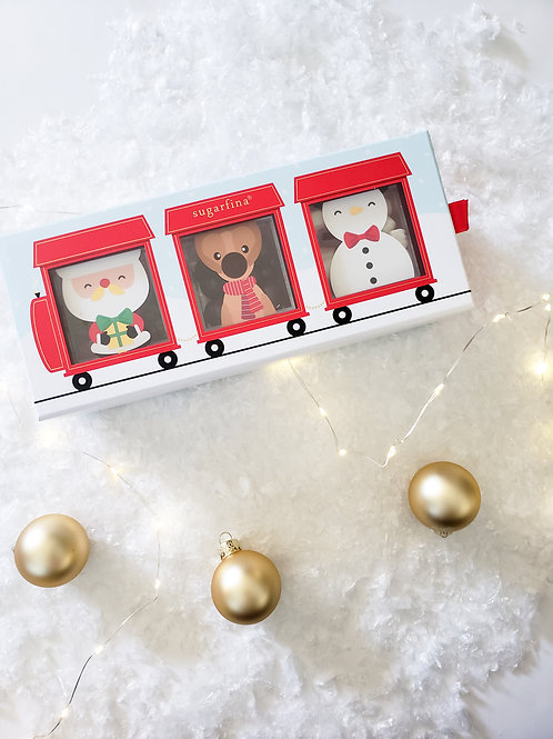 Santa's Train 3 Piece Candy Set