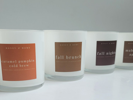 The Fall Candle Color Story. 🍂