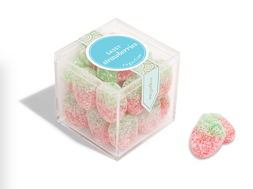 Sassy Strawberries Candy Cube