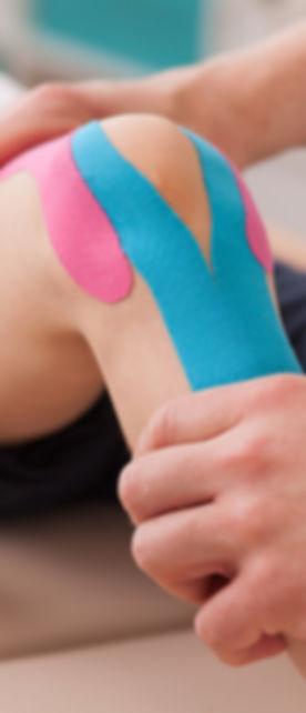 Kineso Taping also called sports taping used mostly in sports injury and athletes