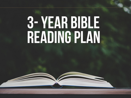 Reading the Bible Together in 2021, 2022 & 2023!