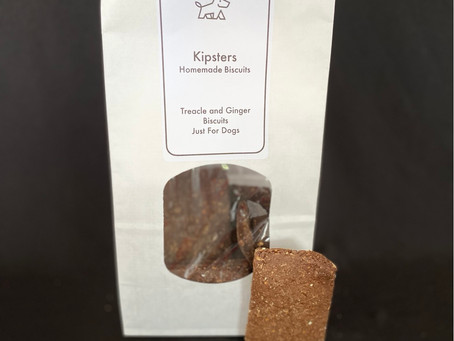 The Treacle and Ginger Biscuit was the third biscuit to be produced in the Kipsters kitchen.