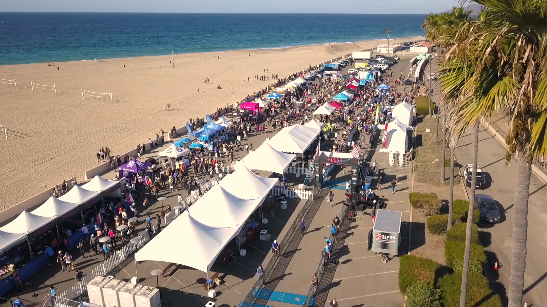 The post-race festival was jammed with runners and their biggest supporters.