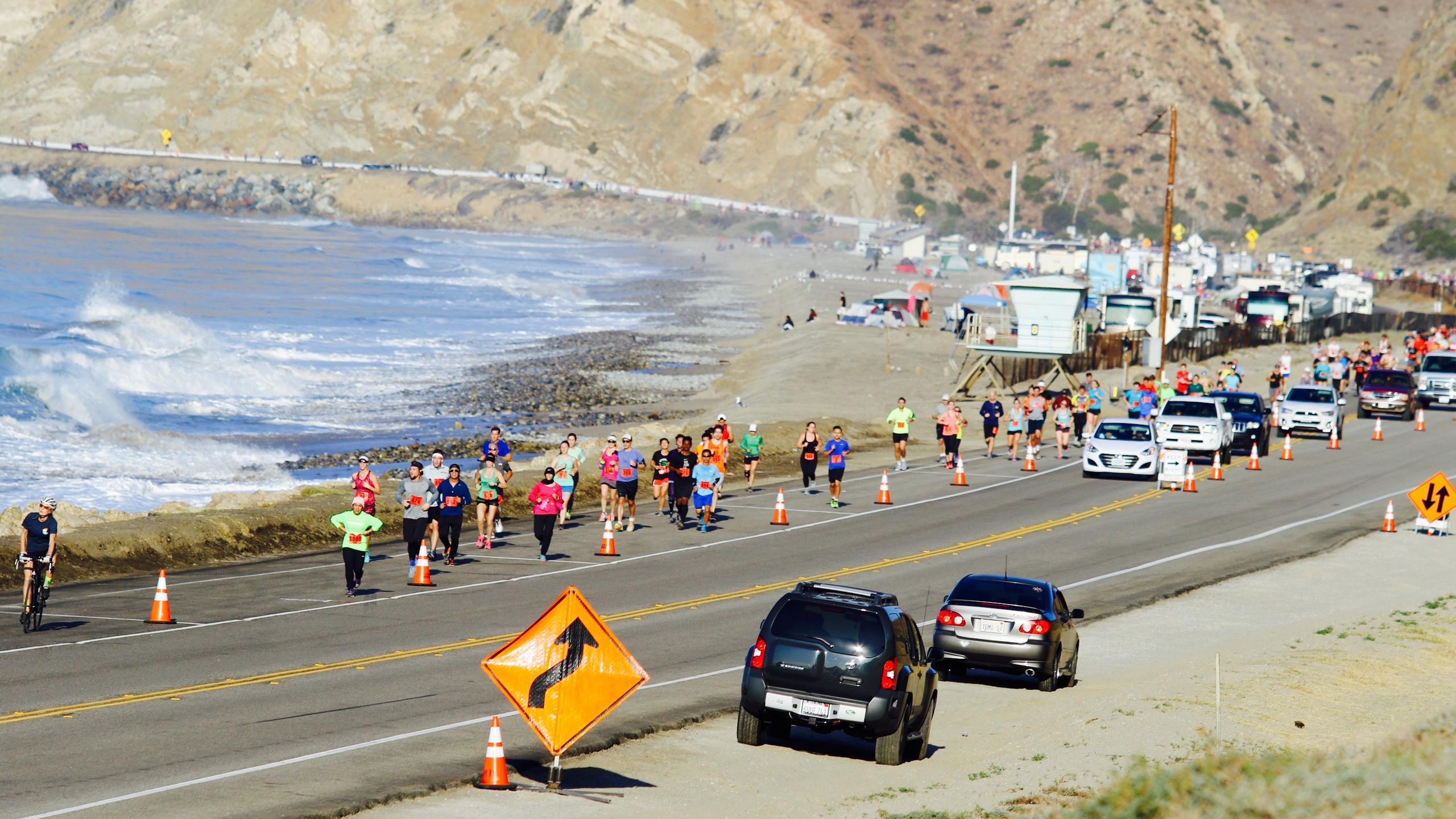Beautiful views and golden beaches serve as a unique backdrop to the Malibu Half Marathon.