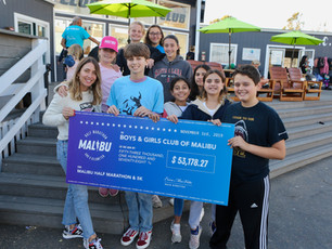 presenting the Boys & Girls Club of Malibu a $53k check
