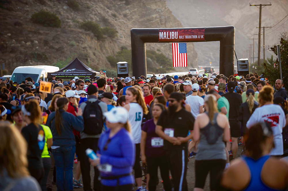 Start line of the Malibu Half Marathon & 5K Run/Walk