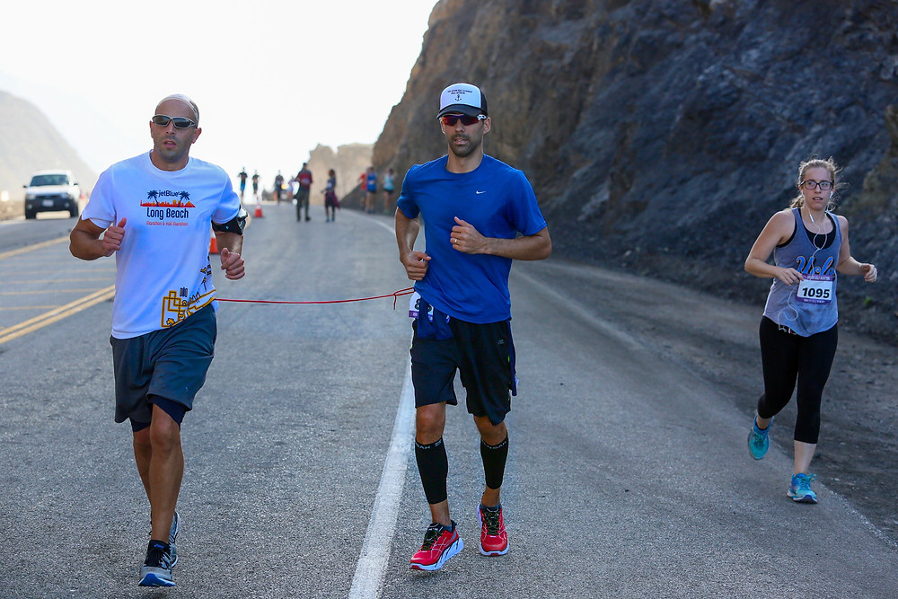 Steve Walker running the 2016 Malibu Half Marathon