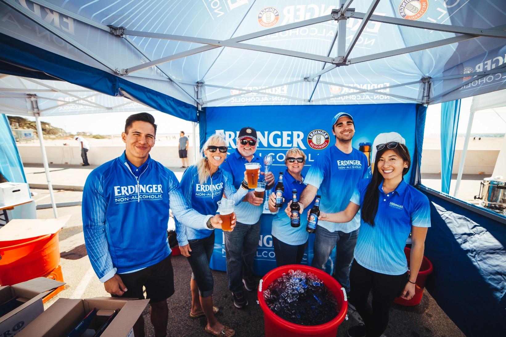 Erdinger Non-Alcoholic was the official beverage partner of the Malibu Half Marathon & 5K.