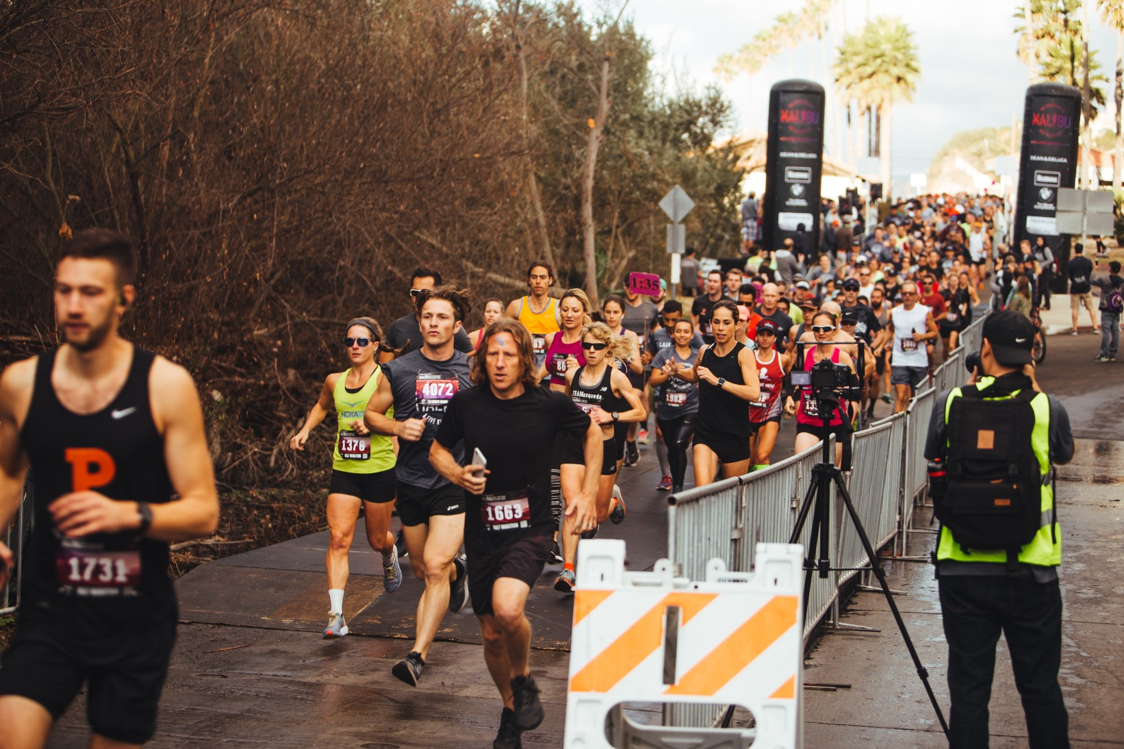 Participant of the first corral set out to run one of the mist scenic races in LA along iconic PCH (route 1).