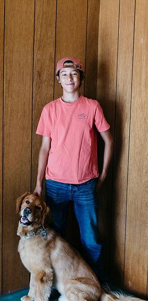 Adam Liszewski and dog