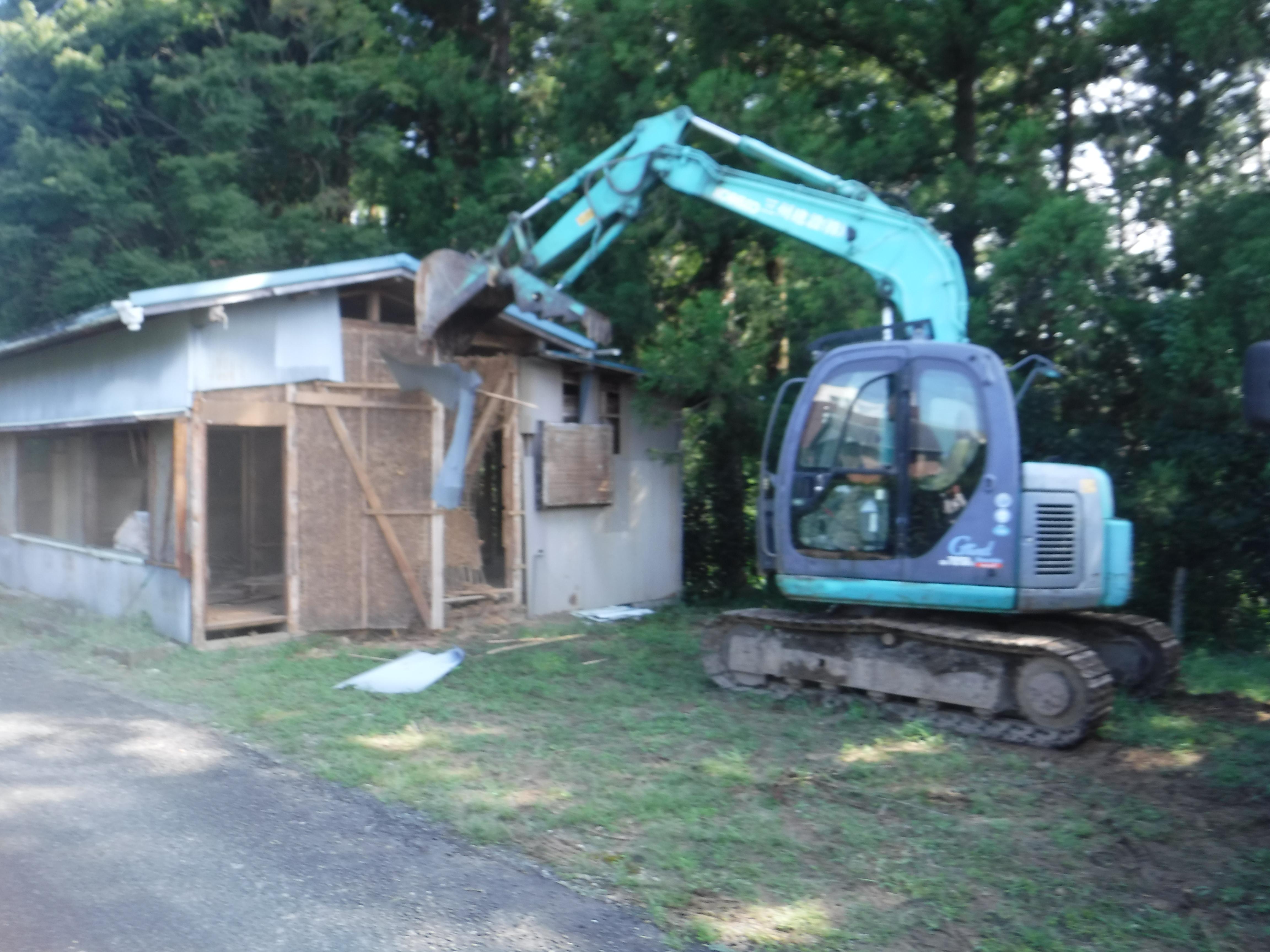 大海家屋解体工事