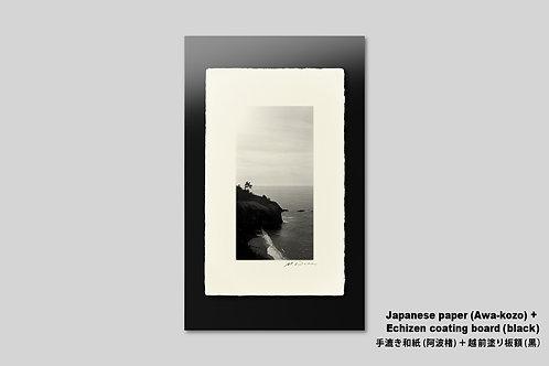 手漉き和紙,写真,風景,海,インテリアフォト,日本海,岬,おしゃれ,アートフレーム,壁掛け,額装,アートポスター,壁飾り