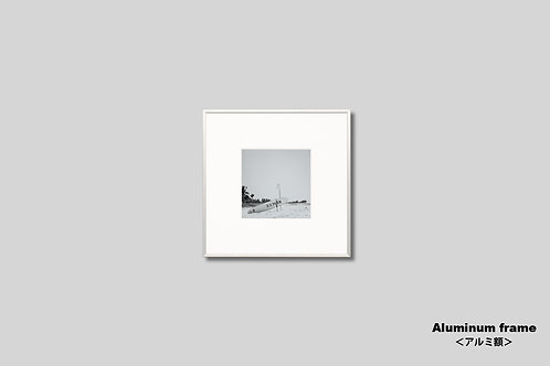 ハワイ,インテリア,写真,モノクロ,正方形,風景,自然,海,砂浜,ビーチ,インテリアフォト,アート,額入り,額装,おしゃれ,モダン,新築祝い,プレゼントオリジナルプリント,アートフレーム,フォトフレーム,壁掛け,壁飾り,装飾,ウォールアート
