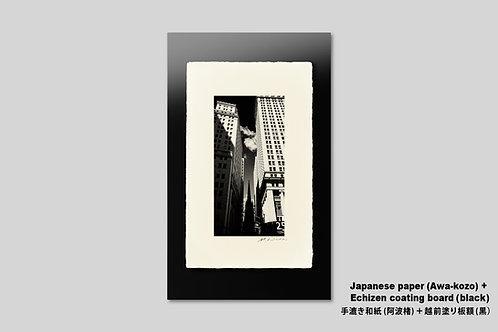 手漉き和紙,写真,インテリア,風景,ニューヨーク,マンハッタン,ウォール街,ビル,インテリアフォト,アートフレーム,おしゃれ,モダン,壁掛け,壁飾り,装飾,額入り,額装,オリジナルプリント,モノクロ,フォトフレーム,ウォールアート