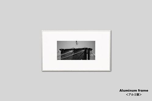 インテリア,写真,風景,ニューヨーク,ブルックリン橋,モノクロ,インテリアフォト,アート,額入り,額装,オリジナルプリント,アートフレーム,フォトフレーム,おしゃれ,モダン,壁掛け,壁飾り,装飾,ウォールアート,新築祝い
